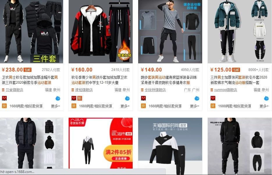 Shop bộ đồ Quảng Châu dành cho Nam